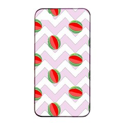 Watermelon Chevron Apple iPhone 4/4s Seamless Case (Black)