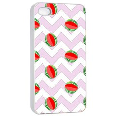 Watermelon Chevron Apple iPhone 4/4s Seamless Case (White)