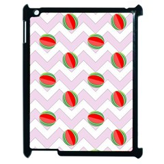 Watermelon Chevron Apple iPad 2 Case (Black)
