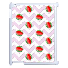 Watermelon Chevron Apple iPad 2 Case (White)