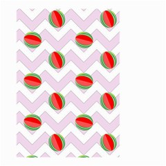 Watermelon Chevron Small Garden Flag (Two Sides)