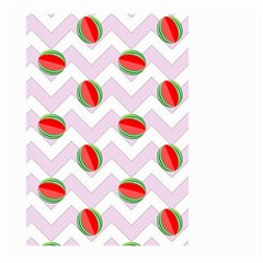 Watermelon Chevron Large Garden Flag (Two Sides)