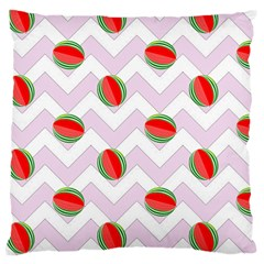 Watermelon Chevron Large Cushion Case (One Side)