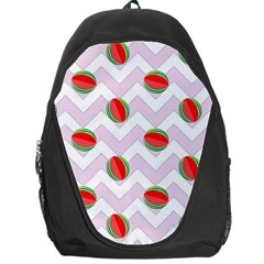 Watermelon Chevron Backpack Bag