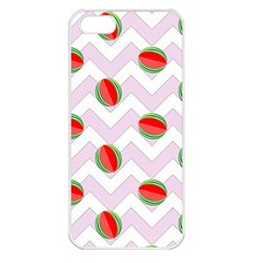Watermelon Chevron Apple iPhone 5 Seamless Case (White)