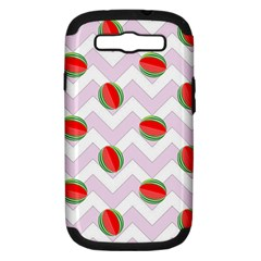 Watermelon Chevron Samsung Galaxy S III Hardshell Case (PC+Silicone)