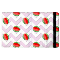Watermelon Chevron Apple Ipad 3/4 Flip Case by snowwhitegirl