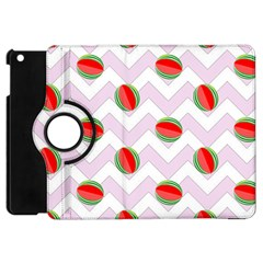 Watermelon Chevron Apple iPad Mini Flip 360 Case