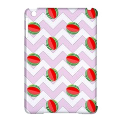 Watermelon Chevron Apple iPad Mini Hardshell Case (Compatible with Smart Cover)