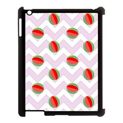 Watermelon Chevron Apple iPad 3/4 Case (Black)