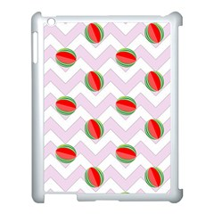 Watermelon Chevron Apple iPad 3/4 Case (White)