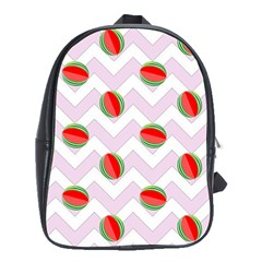 Watermelon Chevron School Bag (XL)