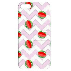 Watermelon Chevron Apple iPhone 5 Hardshell Case with Stand