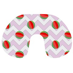 Watermelon Chevron Travel Neck Pillows
