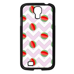 Watermelon Chevron Samsung Galaxy S4 I9500/ I9505 Case (Black)