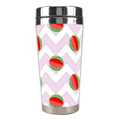 Watermelon Chevron Stainless Steel Travel Tumblers