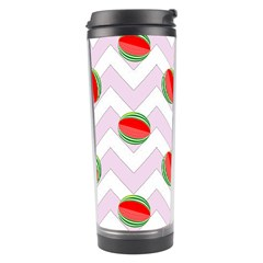 Watermelon Chevron Travel Tumbler