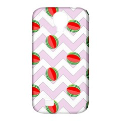 Watermelon Chevron Samsung Galaxy S4 Classic Hardshell Case (PC+Silicone)