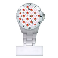 Watermelon Chevron Plastic Nurses Watch