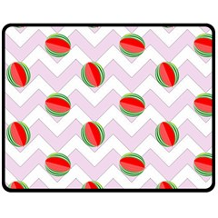 Watermelon Chevron Double Sided Fleece Blanket (Medium)