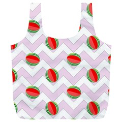Watermelon Chevron Full Print Recycle Bag (XL)