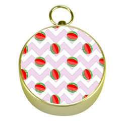 Watermelon Chevron Gold Compasses