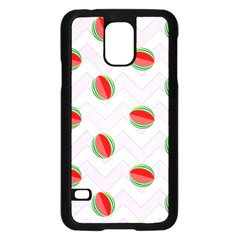 Watermelon Chevron Samsung Galaxy S5 Case (Black)