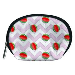 Watermelon Chevron Accessory Pouch (Medium)