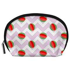 Watermelon Chevron Accessory Pouch (Large)