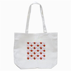 Watermelon Chevron Tote Bag (White)