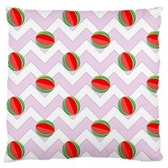 Watermelon Chevron Large Flano Cushion Case (One Side)