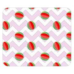 Watermelon Chevron Double Sided Flano Blanket (Small)