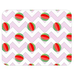 Watermelon Chevron Double Sided Flano Blanket (Medium)