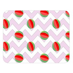 Watermelon Chevron Double Sided Flano Blanket (Large)