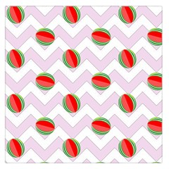 Watermelon Chevron Large Satin Scarf (Square)