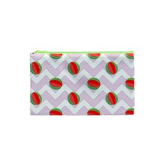 Watermelon Chevron Cosmetic Bag (XS)