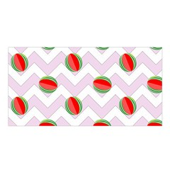 Watermelon Chevron Satin Shawl