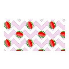 Watermelon Chevron Satin Wrap