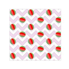 Watermelon Chevron Small Satin Scarf (Square)