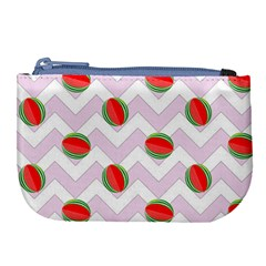 Watermelon Chevron Large Coin Purse