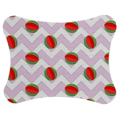 Watermelon Chevron Jigsaw Puzzle Photo Stand (Bow)