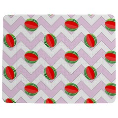 Watermelon Chevron Jigsaw Puzzle Photo Stand (Rectangular)