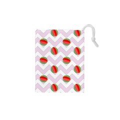 Watermelon Chevron Drawstring Pouch (XS)