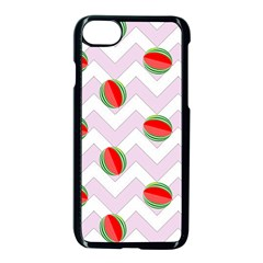 Watermelon Chevron Apple iPhone 7 Seamless Case (Black)