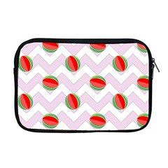 Watermelon Chevron Apple MacBook Pro 17  Zipper Case
