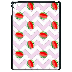 Watermelon Chevron Apple iPad Pro 9.7   Black Seamless Case