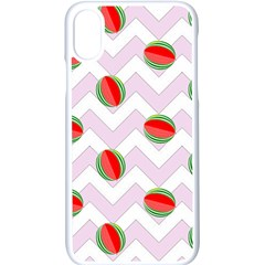Watermelon Chevron Apple iPhone X Seamless Case (White)