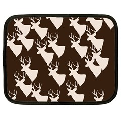 Brown Deer Pattern Netbook Case (large) by snowwhitegirl