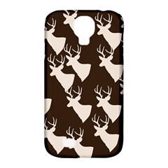 Brown Deer Pattern Samsung Galaxy S4 Classic Hardshell Case (pc+silicone) by snowwhitegirl
