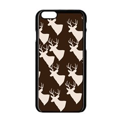 Brown Deer Pattern Apple Iphone 6/6s Black Enamel Case by snowwhitegirl